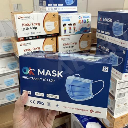Khẩu trang y tế 4 lớp kháng khuẩn, kháng giọt bắn OK MASK Nam Anh-3
