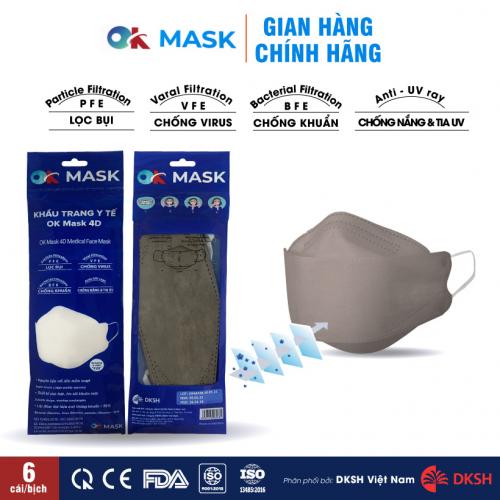 Khẩu trang y tế OK MASK 4D Nam Anh thiết kế thời trang-3