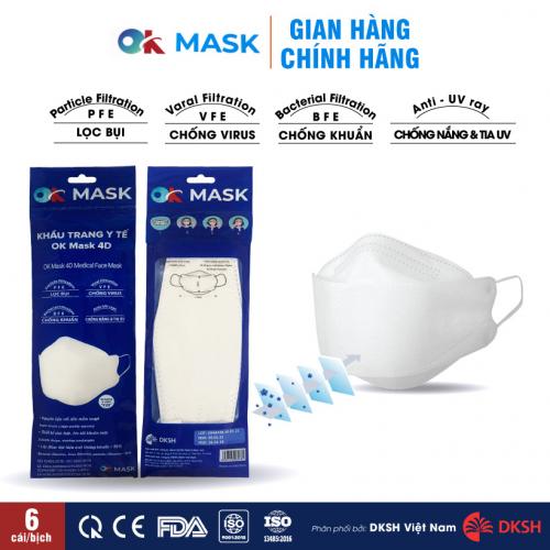 Khẩu trang y tế OK MASK 4D Nam Anh thiết kế thời trang