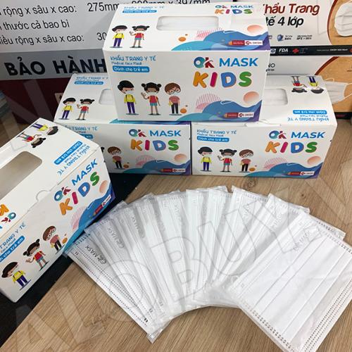Khẩu trang y tế trẻ em 3 lớp kháng khuẩn OK MASK KIDS Nam Anh-1