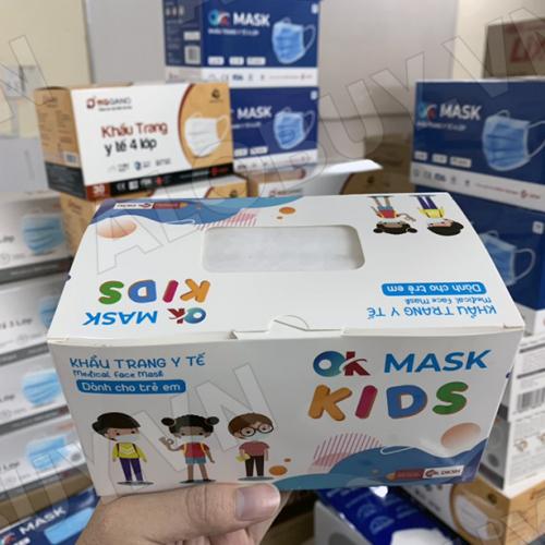 Khẩu trang y tế trẻ em 3 lớp kháng khuẩn OK MASK KIDS Nam Anh-5