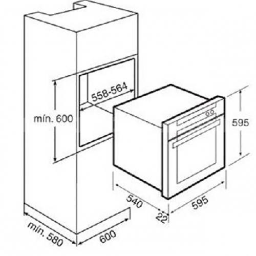 Lò nướng âm tủ CHEFS EH-BO1107S-5