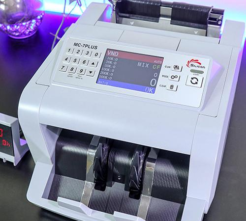 Máy đếm tiền phát hiện tiền siêu giả Silicon MC-7PLUS COMBO-4