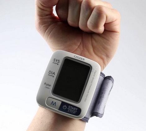 Máy đo huyết áp cổ tay Citizen CH-650-4