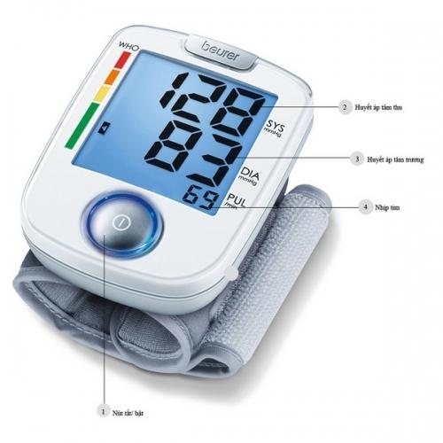 Máy đo huyết áp điện tử cổ tay Beurer BC44-1
