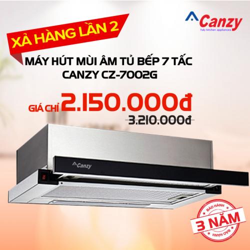 Máy hút mùi âm tủ bếp 7 tấc Canzy CZ-7002G