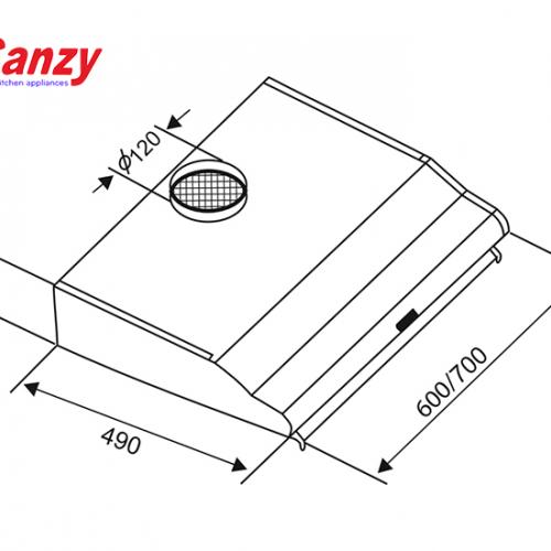 Máy hút mùi bếp 6 tấc CANZY CZ-2060B-2
