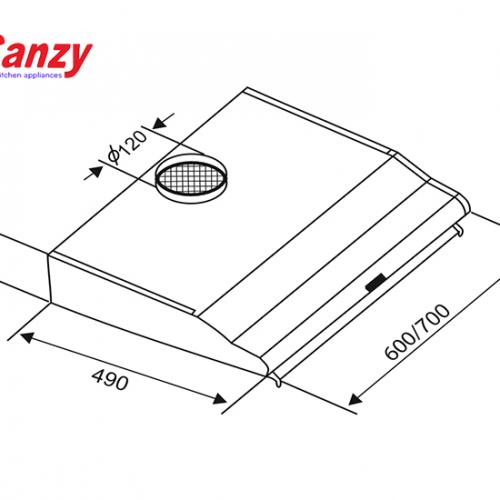Máy hút mùi bếp 7 tấc inox CANZY CZ-2070i-1