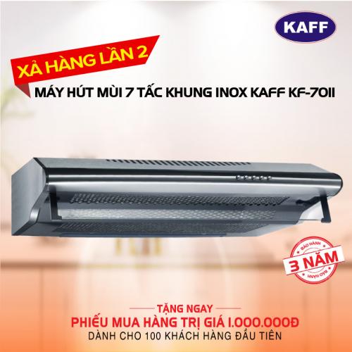 Máy hút mùi bếp 7 tấc khung INOX KAFF KF-701I