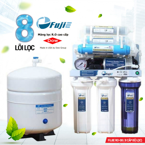 Máy lọc nước RO để gầm, không tủ FUJIE RO-08 (8 cấp lọc)-1