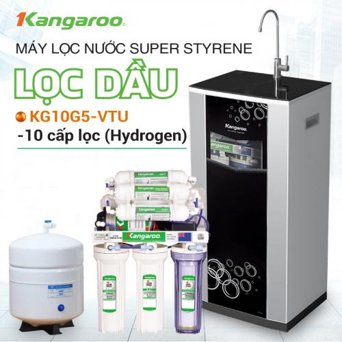 Máy Lọc Nước RO Hydrogen Superstyene KANGAROO KG10G5VTU (10 cấp lọc - Bao gồm tủ cường lực)