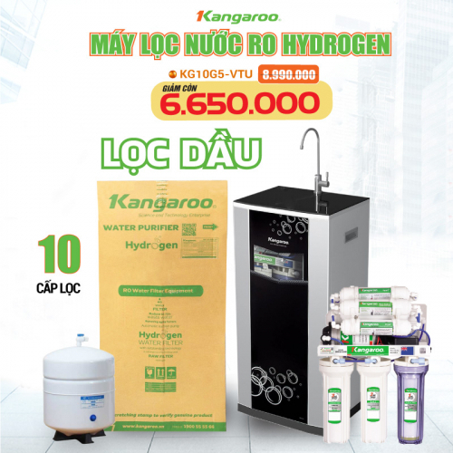 Máy Lọc Nước RO Hydrogen Superstyene KANGAROO KG10G5VTU (10 cấp lọc - Bao gồm tủ cường lực)-1