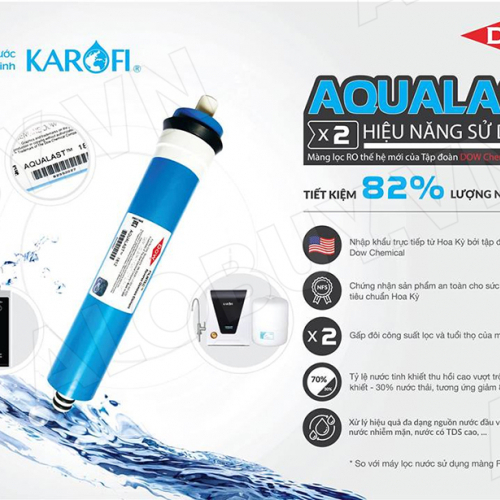 Máy lọc nước RO KAROFI OPTIMUS s1 O-s129/U (9 cấp lọc - Đèn UV diệt khuẩn)-3