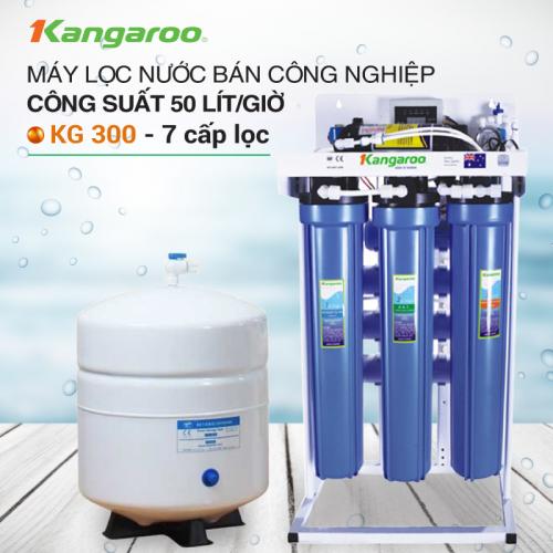 Máy lọc nước RO không tủ bán công nghiệp KANGAROO KG-300 (7 cấp lọc)