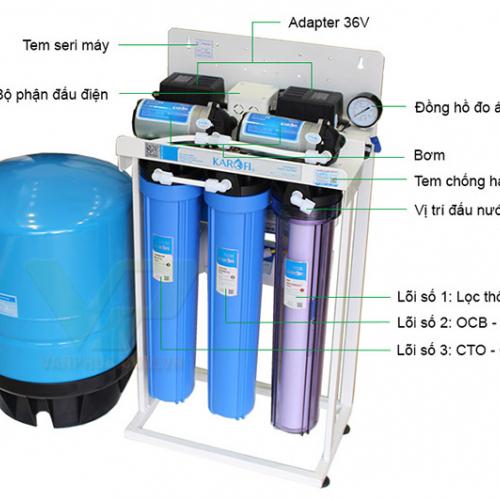 Máy lọc nước RO không tủ bán công nghiệp KAROFI KT-KB30 (6 cấp lọc)-3