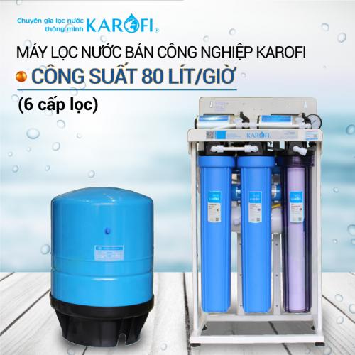 Máy lọc nước RO không tủ bán công nghiệp KAROFI KT-KB80 (6 cấp lọc)