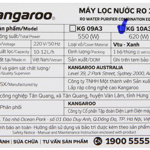 Máy lọc nước RO nóng lạnh 2 vòi KANGAROO KG10A3 (10 cấp lọc - Bao gồm tủ cường lực)-6