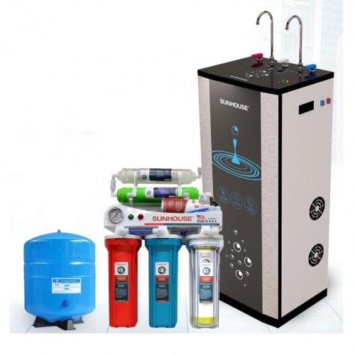Máy lọc nước RO nóng lạnh 2 vòi SUNHOUSE SHR76210CK (10 cấp lọc - Bao gồm tủ cường lực)-2