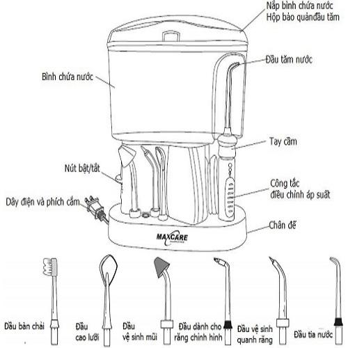 Máy tăm nước Maxcare Max-456L-2