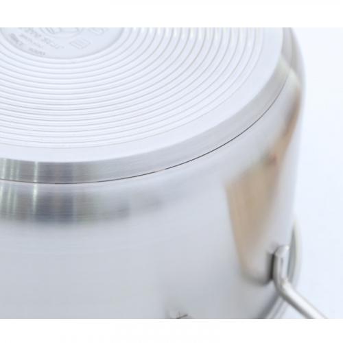 Nồi inox 3 đáy nắp kính 24cm Fivestar N24-3DG-3