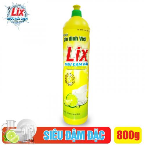 Nước rửa chén Lix siêu đậm đặc hương chanh - N801-2