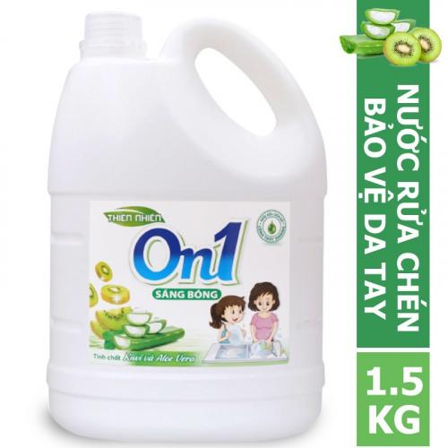 Nước rửa chén On1 hương kiwi và aloe vera 1.5Kg - N4ON1-2