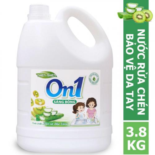 Nước rửa chén On1 hương kiwi và aloe vera 3.8Kg - N5ON1-2