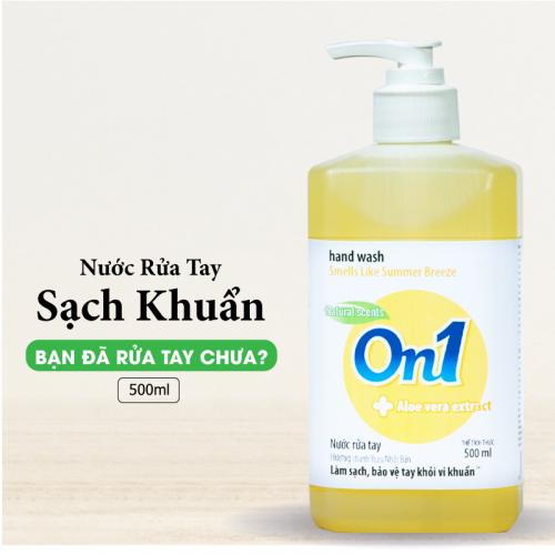 Nước Rửa Tay ON1 500ml Sạch Khuẩn Hương Chanh YUZU