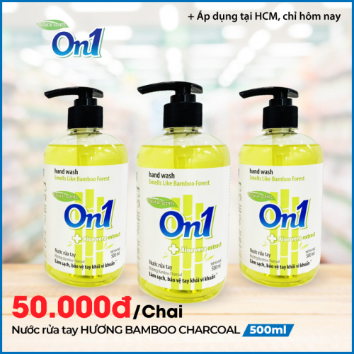Nước Rửa Tay sạch khuẩn On1 Hương Bamboo Charcoal 500ml