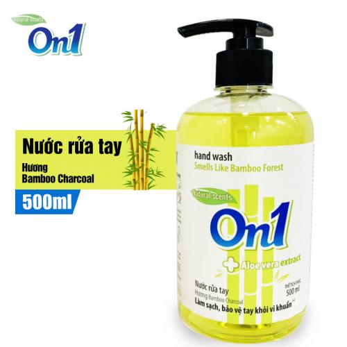 Nước Rửa Tay sạch khuẩn On1 Hương Bamboo Charcoal 500ml-2