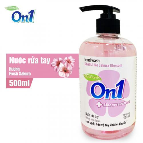Nước Rửa Tay sạch khuẩn On1 Hương Fresh Sakura 500ml-1