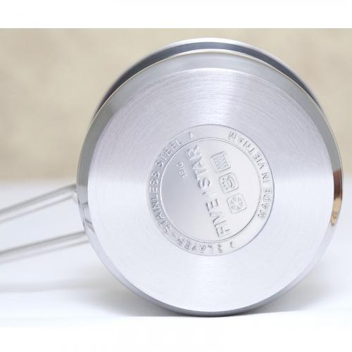 Quánh inox nắp kính 16cm Fivestar Q16-3DG-6