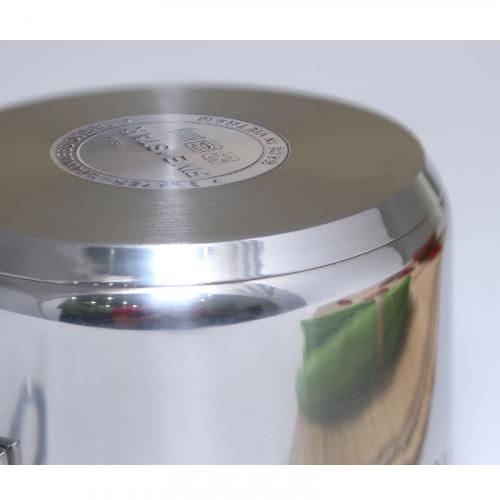 Quánh inox nắp kính 16cm Fivestar Q16-3DG-4