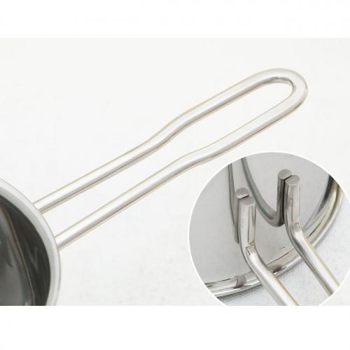 Quánh inox nắp kính 16cm Fivestar Q16-3DG-2