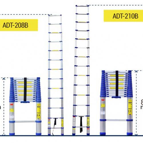 Thang nhôm rút gọn đơn Advindeq ADT208B-1