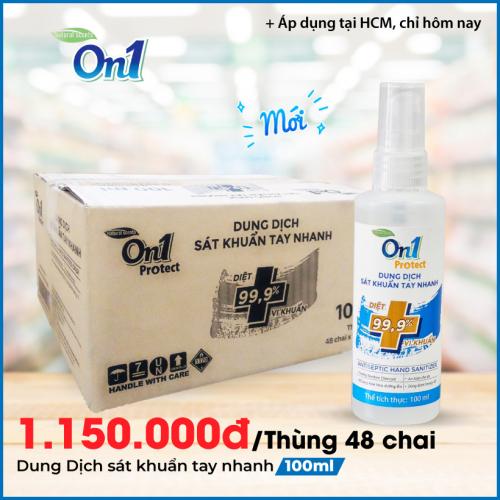 Thùng Dung dịch sát khuẩn tay nhanh On1 Protect hương BamBoo Charcoal chai xịt 100ml C0201