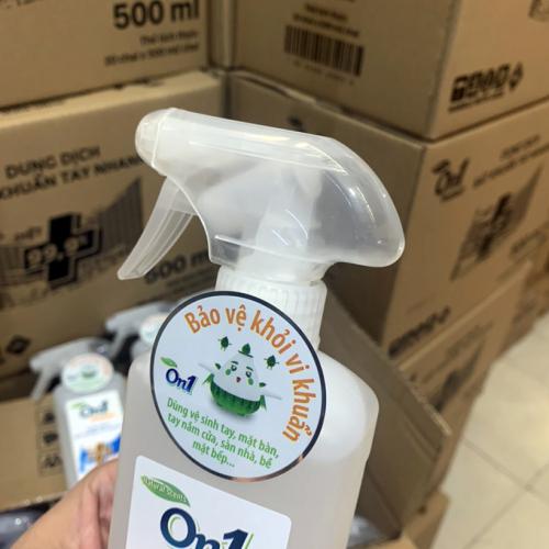 Thùng Dung dịch sát khuẩn tay nhanh On1 Protect hương BamBoo Charcoal chai xịt 500ml C0202 -2