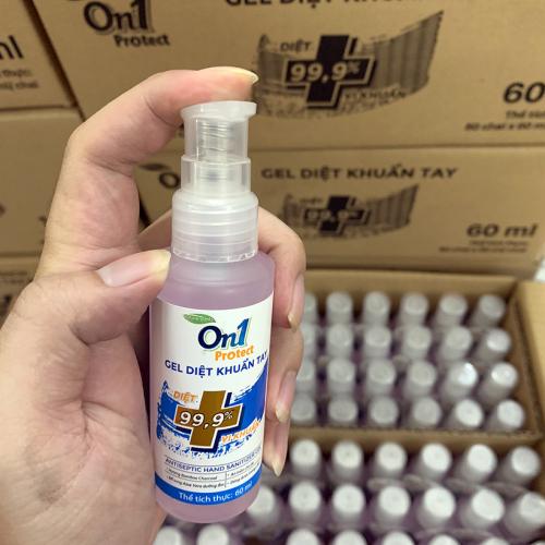 Thùng Gel Rửa Tay khô sạch khuẩn nhanh On1 Protect hương BamBoo Charcoal chai nhấn 60ml C0101-1