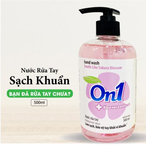 Thùng Nước Rửa Tay sạch khuẩn On1 Hương Fresh Sakura 500ml-2