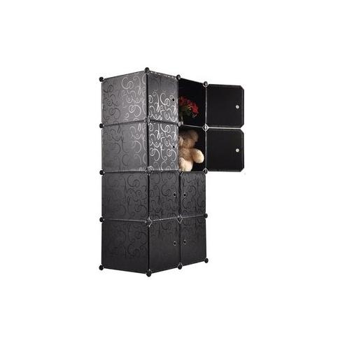 Tủ nhựa đa năng 8 ngăn Tupper Cabinet TC-8B (Đen)