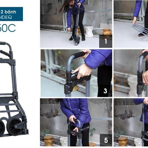 Xe Đẩy Hàng 2 Bánh Rút Gọn ADVINDEQ TL-150C-1