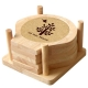 Bộ 6 lót ly hình vỏ sò Gỗ Đức Thành 28201-1
