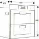 Máy sấy chén bát âm tủ kệ BINOVA BI-999-MSB-1